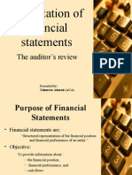 Presentation of Financial Statements 07-08-07