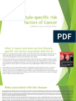 Lifestyle-specific Risk Factors of Cancer
