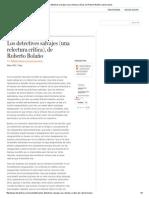 Los Detectives Salvajes (Una Relectura Crítica), De Roberto Bolaño _ Letras Libres