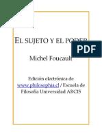 El Sujeto y El Poder - M. Foucault