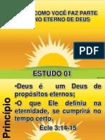 Estudo 01 - o Eterno Plano de Deus