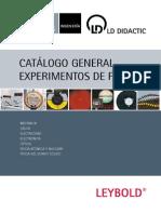 Catálogo General Experimentos de Física LD