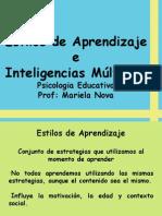Estilos de Aprendizaje e Inteligencias Múltiples