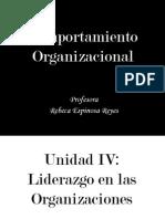 Unidad IV Liderazgo en las Organizaciones.ppt