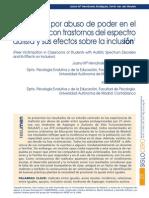 El Maltrato Por Abuso de Poder en El Alumnado Con Trastornos Del Espectro Autista y Sus Efectos Sobre La Inclusión