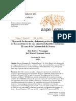 El peso de la docencia y la investigación desde la visión de los académicos de una universidad pública mexicana. El caso de la Universidad de Sonora
