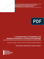 Probability and statistics in criminal proceedings