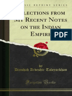 Selections From My Recent Notes on the Indian Empire (1886)