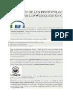 Icp El Origen de Los Protocolos Estándar Lonworks Eib Knx
