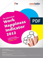 2012 Work Happiness Indicator Survey Report