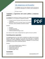 Tipos de Empresas en Ecuador
