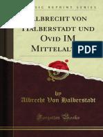 Halberstadt - Ovid Im Mittelalter
