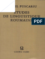 Sextil Pușcariu - Essai de reconstruction du roumain primitif