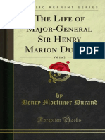 The Life of Major-General Sir Henry Marion Durand Vol. 1