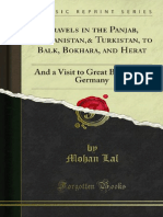 Travels in the Panjab Afghanistan Turkistan to Balk Bokhara and Herat (1846)