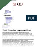 Cloud Computing en Pocas Palabras