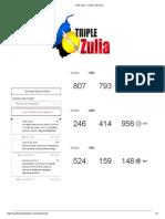 Triple Zulia - Lotería Del Zulia