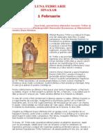 (.) Vietile Sfintilor Ortodoxiei. (02) Sinaxarul lunii Februarie.pdf