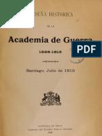 Reseña Historica de La Academia de Guerra. 1886-1915. (1915)