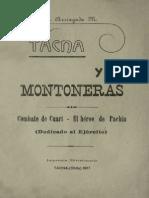 Tacna y Sus Montoneras. Combate de Cuarí - El Héroe de Pachía (Dedicado Al Ejército). (1917)