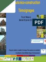 L´auto eco-construction temoignages_leták_2011