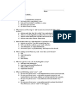 To Kill a Mockingbird 12-16 Quiz