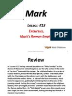 13. Excursus. Mark's Roman Empire