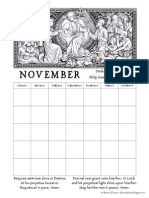 November Calendar for the HolySouls