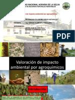 Valoración de Impacto Ambiental Por Agroquímicos