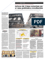 """""""Edificios históricos estarían en riesgo por polémica resolución"""""""