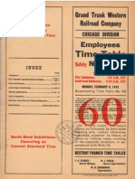 Grand Trunk Western Employees Timetable 1942