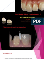 L1 - Principles of Tooth Preparation