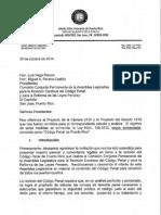 Ponencia Justicia sobre enmiendas al Codigo Penal - PC2155