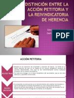 Distinción Entre La Acción Petitoria y La Reivindicatoria