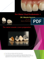 L3 - Metal Ceramic Preparations