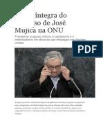 Discurso de José Mujica Na ONU