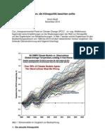 Fakten, Die Klimapolitik beachten sollte