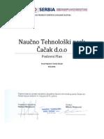 Poslovni Plan NTP Cacak