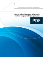 ib learning in a language other than mother tongue