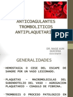 38. Anticoagulantes Antiplaquetarios Resumen 2014