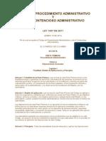 Código de Procedimiento Administrativo y de Lo Contencioso Administrativo