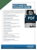 Gen F3 b Scholarship Resume