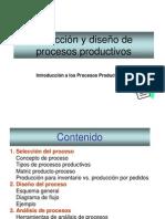 ( 4 ) Diseño de Procesos Productivos