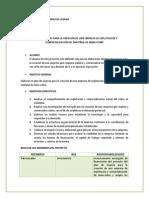 Plan de Negocio Para La Creación de Una Empresa de Explotación y Comercialización Del Material de Mina-cobre