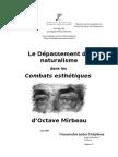 """Delphine Neuenschwander, """"Le Dépassement du naturalisme dans les """"Combats esthétiques"""" de Mirbeau"""""""