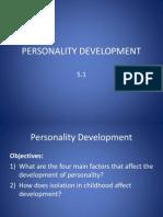 5.1 Personality Development