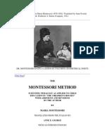 The Montessori Method by Maria Montessori