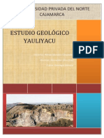 ESTUDIO GEOLÓGICO YAULIYACU