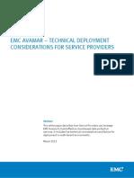 Avamar Technical Considerations