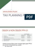 Tax Planning Pph 21